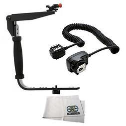 Flash Bracket Grip + TTL Off Camera Shoe Cord Nikon D3300 D3