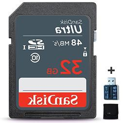 SanDisk 32GB Ultra Class 10 SDHC UHS-I Memory Card + Card Re