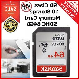 SD Class 10 Storage Memory Card SDHC 64G Ultra UHS-I For Can
