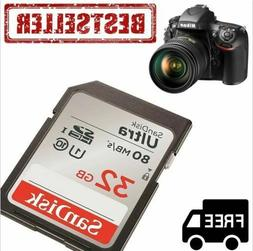 SD Class 10 Storage Memory Card SDHC 32G Ultra UHS-I For Can