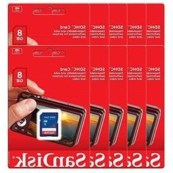 10 Piece SanDisk SDSDB-008G 8GB SDHC Class 4 SD sdhc flash M
