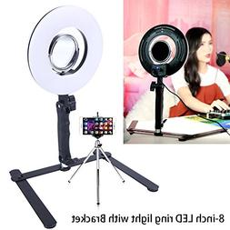 Selfie Ring Light for Phone Video Shooting Makeup YouTube Vi