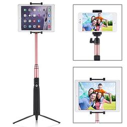 PERLESMITH Selfie Stick with Bluetooth Remote and Tripod Sta