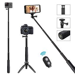 5-in-1 Selfie Stick 44 Inch, Hcomine Professional Extendable