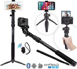 Premium HD Selfie Stick & Tripod 3-in-1 Photo/Video Kit for