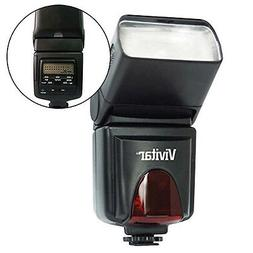 Vivitar SF6000 Slave Flash with Bounce and LCD for Canon Nik