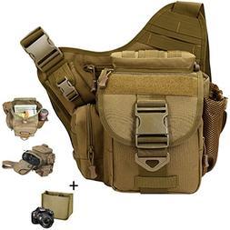 Camera Shoulder Bag, Qcute Waterproof Multi-functional Tacti