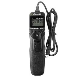 Shutter Release for Nikon, pangshi MC-DC2 LCD Wired Timer Re