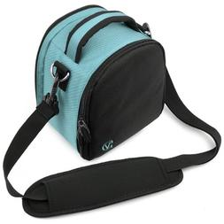 Sky Blue VanGoddy Laurel SLR Camera Carrying Bag for Canon D
