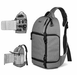 Zecti Sling Camera Bag for DSLR Camera  Gray