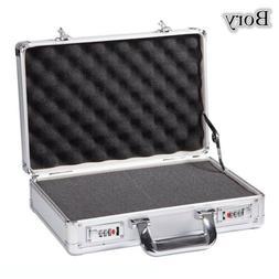 Sliver Aluminum Hard Case Textured Small Camera Equipment Ca