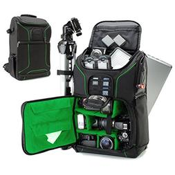 "Digital SLR Camera Backpack  with 15.6"" Laptop Compartment b"