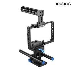 Andoer SLR Camera Cage Video Stabilizer Movie Making for Pan