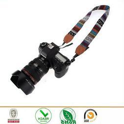 SLR DSLR Camera Neck Shoulder Strap Belt Vintage for Canon N