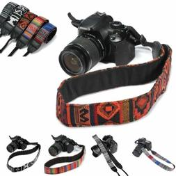 SLR DSLR Camera Neck Shoulder Strap Belt Vintage for Canon N