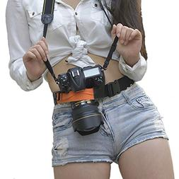 Ueasy Digital SLR DSLR Camera Waist Belt Holster Hanger Stra