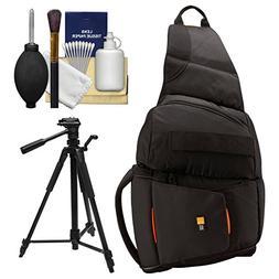 Case Logic Digital SLR Sling Camera Bag/Case   + Tripod + Ac