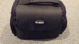 soft medium camera case black bag