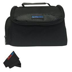 Medium Soft Padded Digital SLR Camera Travel Case/Bag with C
