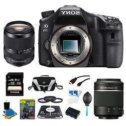 Sony a77II 24.3MP HD 1080p DSLR Camera Lens Bundle Includes: