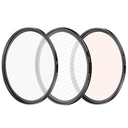 Neewer 3 Pieces 58MM Special Effect Lens Filter Set, Soft Fo
