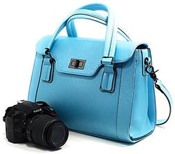 Women DSLR Camera Bag and Ladies Handbag with Removable Came