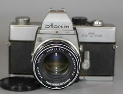 Minolta SRT101 film camera with 55mm f1.7 Rokkor MC lens - T