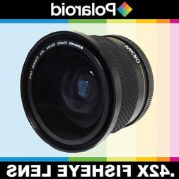 Polaroid Studio Series .42x High Definition Fisheye Lens Wit