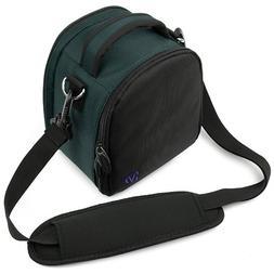 Stylish Elegant Laurel Navy Blue Camera Bag with Adjustable