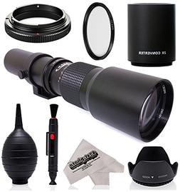 Super 500mm/1000mm f/8 Manual Telephoto Lens for Nikon D5, D