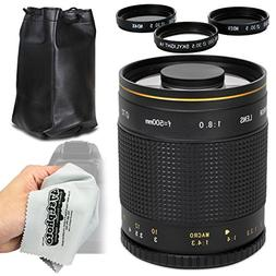Super 500mm f/8 HD Mirror Telephoto Zoom Lens for Canon EOS