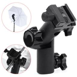 Swivel Flash Hot Shoe Bracket Mount Light Stand Type E Umbre