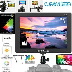 "Feelworld T7 7"" IPS 4K HDMI On Camera Video Monitor for DSLR"
