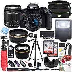 Canon T7i EOS Rebel DSLR Camera with EF-S 18-55mm is STM Len