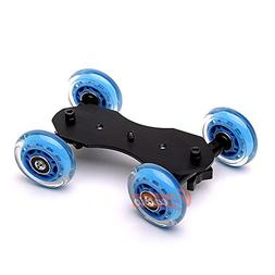Zeadio Tabletop Portable Dolly Mini Rail Car Slider Skater W