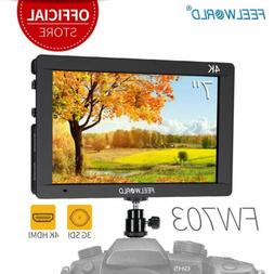 "FEELWORLD FW703 7"" IPS SDI/4K HDMI Camera Field DSLR Monitor"