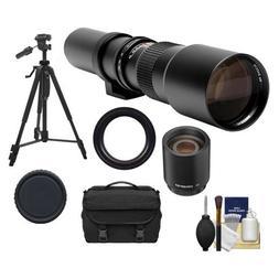 Phoenix 500mm Telephoto Lens with 2x Teleconverter  + Case +