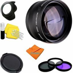 2X Telephoto Zoom Lens KIT FOR CANON EOS REBEL DSLR CAMERAS
