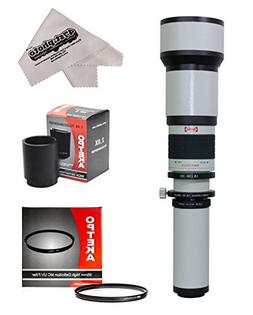 Opteka 650-2600mm High Definition Telephoto Zoom Lens with 9