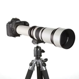 Telescope 650-1300mm f/8-16 Ultra Telephoto Zoom Lens for Ni