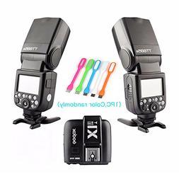 2X Godox Thinklite TT685S TTL High Speed 1/8000s GN60 Camera