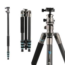 BONFOTO 674C Camera Carbon Fiber Travel Tripod Lightweight H