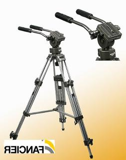 Professional 75mm Video Camera Tripod with Fluid Drag Head F