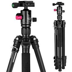 "MACTREM Camera Tripod, 62.5"" Lightweight Alluminum Alloy DSL"