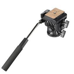Bestshoot Flexible Fluid Video Camera Tripod Pan Head with 1