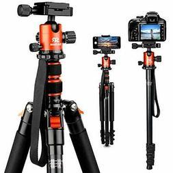 "Tripod DSLR SLR, 66"" Camera Tripod Aluminum Alloy Complete T"