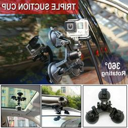 Tripod Mount Triple Suction Cup Car Windshield for GoPro DSL