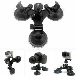 Tripod Mount Triple Suction Cup Car Windshield For Sony SJ G
