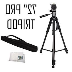 72-inch Tripod 3-way Panhead Tilt Motion with Built In Bubbl