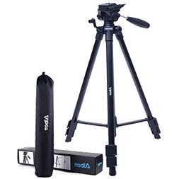 Albott 64 Inch Travel Tripod Portable Aluminium Lightweight